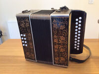 Double Row Button Accordion (B-C) Manufactured in West Germany
