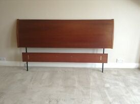 Solid mahogany headboard- fit Superking Bed