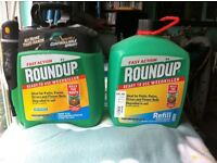 Roundup 5 Ltr Pump and Go Weed Killer and Roundup 5 Ltr Refill Brand New, Unopened.