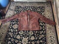 Nice vintage leather jacket size L.
