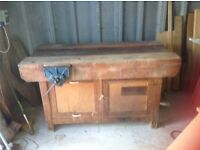 Woodworking bench.