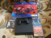 PS4 Standard Console 500GB Includes HDMI Lead Etc Includes Spider-Man Game VGC