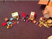 Massive HappyLand bundle -figures, castle, church, pet shop, tractor, London sets