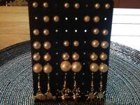 19 pairs of Earrings