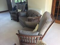 Ercol Renaissence settee & two chairs, Used