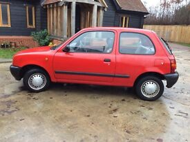 Nissan Micra automatic, red, 40800 miles from new MOT till Oct 17 good clean condition