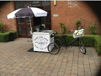 Ice cream trike, Candyfloss, popcorn, candy cart perfect for weddings, birthdays, christenings fairs