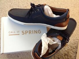 """New leather boating shoes by """"Call it Spring"""" size 11"""