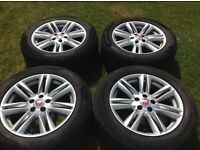 "Genuine Jaguar 17"" Crux alloy wheels and tyres. Set of 4."