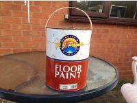"""Garage floor paint dark grey cost £48 """""""