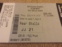 Alison Moyet ticket - 23/11/17 for Bristol Colston Hall - Sold out gig