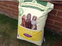 James Well Beloved Senior dog food. Lamb & Rice flavour