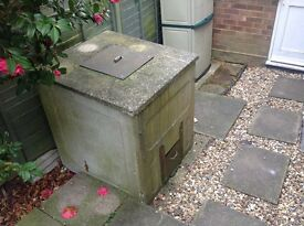 FREE - Concrete Coal Bunker - good condition