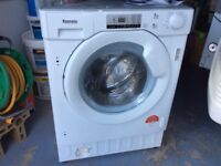 Baumatic intergrated washing machine 8kg 1400rpm. No longer required moderate use for 11 months
