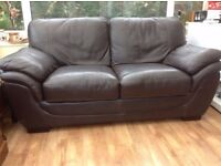 Quality Real Leather Brown Sofa,Can Deliver
