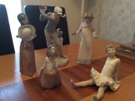Collection of LLadro and Nao figures