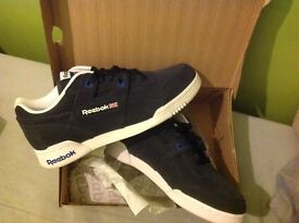 Reebok Workout. Size 7. Brand new, never worn, in box. £35! Trainers, sneakers, shoes.