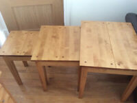 Used, Next Oak living room units - Nest of tables, side unit, chest/draw unit for sale  Liverpool, Merseyside