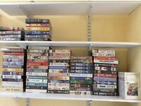 Dozens of films on video tapes