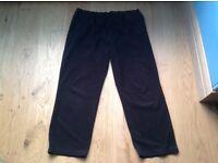 Black Fleece Jogging Bottoms - Size = waist 42/44 leg 31