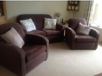 Three Piece Suite For Sale ( 2 seater sofa plus two armchairs)