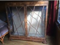 Old wooden china cabinet