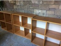 Storage units wood veneer brown as photo Each with four compartments