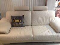 Beautiful Marinelle leather 3 seater sofa