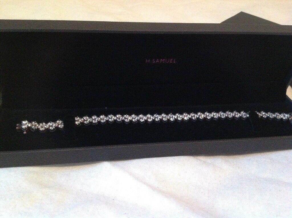 H Samuel silver bracelet