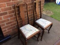 Antique Bedside Chairs