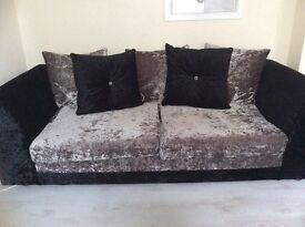 3+2 seater sofa's in stunning crushed velvet