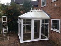 Conservatory, dismantled, full height 3 meters by 3 meters