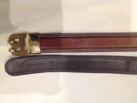 Bally (Made in Italy) leather black belt. length: 90cm. Width: 2cm