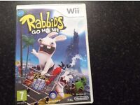 PREOWNED Wii RABBIDS GO HOME - £5 Will post of postage paid