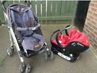Loola Bebe Confort travel system with car seat and Pushchair/stroller