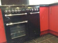 Range master cooker 90. Red high gloss units