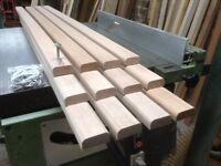 Garden Bench Seat slats-Hardwood Meranti-4ft for cast iron bench ends-includes Stainless bolt Kit.