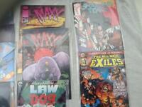 Comics sealed in plastic