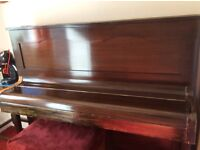 Upright straight strung piano