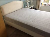 IKEA double bed with mattress and headboard