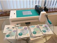 Todo paper craft machine for die cuts embossing hot foil and letter press good condition with extras