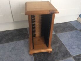 Small solid pine cd storage unit