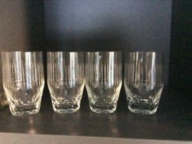 Set Of five small cut glass tumblers
