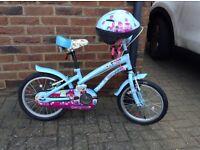 Girls Apollo 16inch cherry lane bike and matching helmet