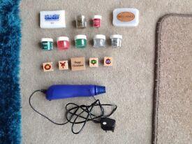 Heat gun and embossing tools