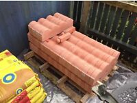 Selling 52 new bradstone scolloped edging stones colour (RED) £2.50 each or 52 for £125.00