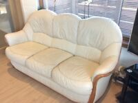 Leather sofa (3 seater + single chair)