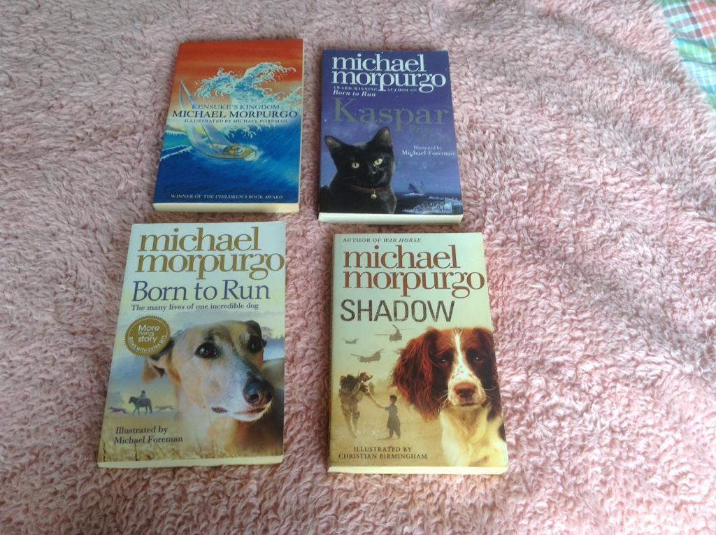 Michael Morpurgo booksin Havant, HampshireGumtree - 4 Michael Morpurgo books in good second hand condition. From smoke free home.Titles ShadowKasparBorn to RunKensukes Kingdom