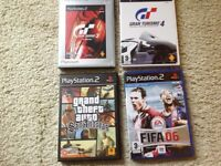 4 preowned Playstation 2 games