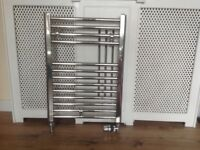 Bathroom towel rail complete with valves and fittings